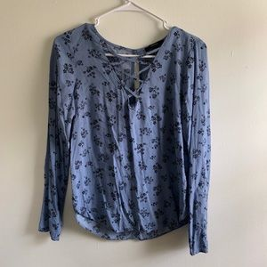 Forever21 | Dusty Blue Floral Top